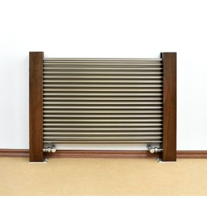 Excel Horizontal Designer Radiator Brushed Aluminium (H)600 mm (W)800 mm