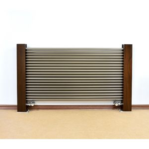 Excel Horizontal Designer Radiator Brushed Aluminium (H)600 mm (W)100 mm