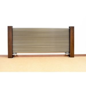 Excel Horizontal Designer Radiator Brushed Aluminium (H)600 mm (W)1200 mm