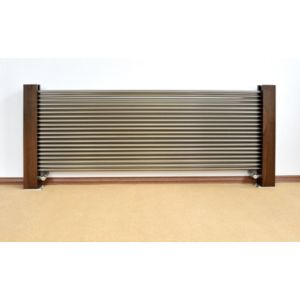 Excel Horizontal Designer Radiator Brushed Aluminium (H)600 mm (W)1400 mm