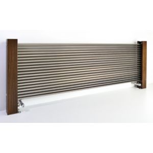Excel Horizontal Designer Radiator Brushed Aluminium (H)600 mm (W)1600 mm