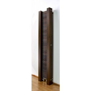 Excel Vertical Designer Radiator Brushed Aluminium (H)1600 mm (W)300 mm