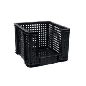 Image of Really Useful Extra strong trade range Black 35L Plastic Storage crate