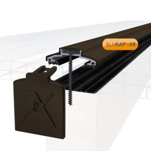 Image of Alukap Brown Axiome sheet glazing bar (H)20mm (W)60mm (L)4800mm