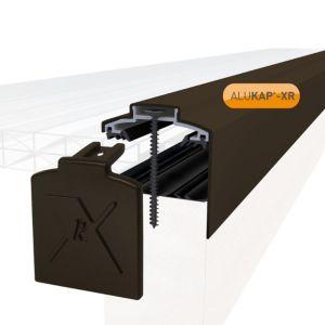 Image of Alukap Brown Axiome sheet glazing bar (H)70mm (W)60mm (L)4800mm