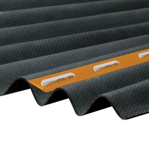 Image of Corrapol-BT Black Bitumen Corrugated Roofing sheet (L)2m (W)930mm (T)2mm