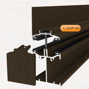 Image of Alukap Brown Axiome sheet glazing bar (H)140mm (W)60mm (L)4800mm