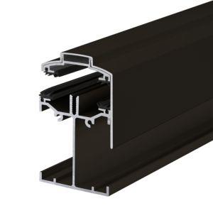 Image of Alukap Brown Axiome sheet glazing bar (H)90mm (W)60mm (L)4800mm
