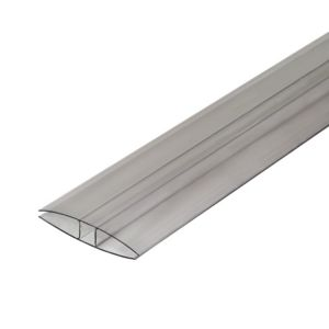 Image of Clear Polycarbonate Glazing Bar 2m x 60mm