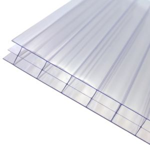 Image of Clear Polycarbonate Multiwall Roofing Sheet 2.5m x 1000mm