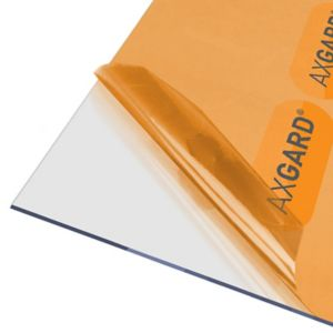 Image of AXGARD Clear Polycarbonate Flat Glazing sheet (L)1.24m (W)0.62m (T)3mm