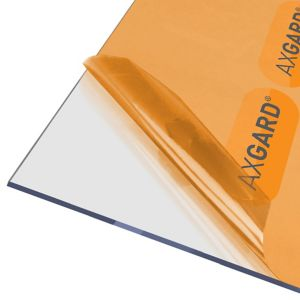 Image of AXGARD Clear Polycarbonate Flat Glazing sheet (L)2.5m (W)0.62m (T)4mm