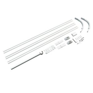 View B&Q Shower Curtain Rod (L)800mm details