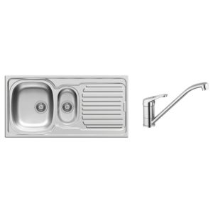 View Pyramis 1.5 Bowl Stainless Steel Sink & Tap details