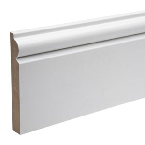 View Primed MDF Torus Skirting (L)2400mm (W)119mm (T)18mm details
