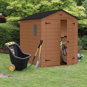View 8X6 Apex Shiplap Plastic Shed - Assembly Required details