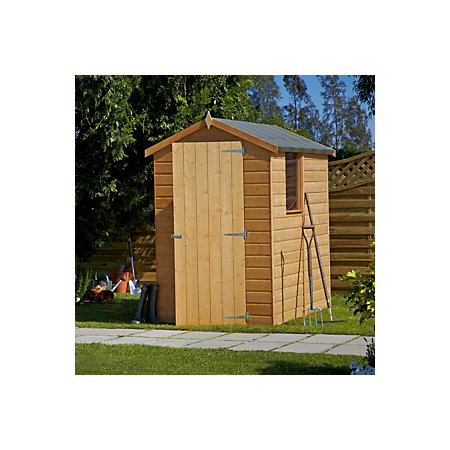 6x4 shetland apex shiplap wooden shed departments for Garden shed 6x4 sale
