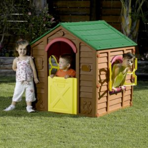 View Keter Brown, Green & Yellow Plastic Playhouse details