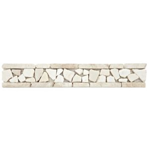 View Cappuccino Marble Border Tile, (L)300mm (W)50mm details