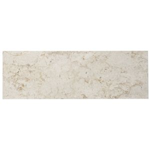 View Natural Stone Marble Cream Marble Wall & Floor Tile, Pack of 7, (L)457mm (W)152mm details