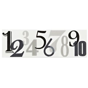 View Numbers Black Ceramic Border Tile, (L)250mm (W)80mm details