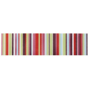 View Barcode Pink Striped Ceramic Border Tile, (L)200mm (W)50mm details