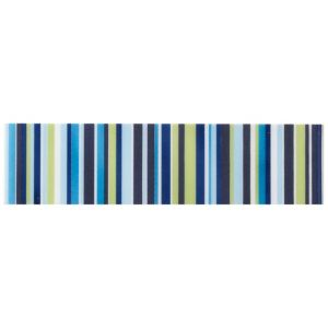 View Barcode Blue Ceramic Border Tile, (L)200mm (W)50mm details