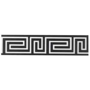 View Greek Key Black Ceramic Border Tile, (L)300mm (W)70mm details