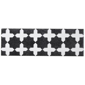 View Morocco Black Ceramic Border Tile, (L)250mm (W)80mm details
