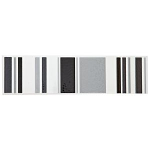 View Stripe Black Ceramic Border Tile, (L)300mm (W)80mm details
