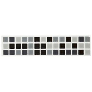 View Mini Mosaic Black & White Mosaic Ceramic Border Tile, (L)200mm (W)45mm details