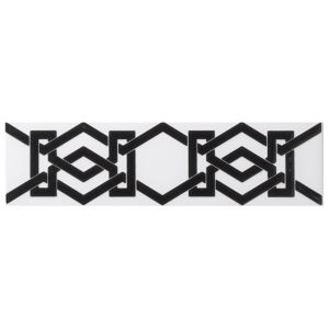 View Interlock Black Ceramic Border Tile, (L)300mm (W)80mm details