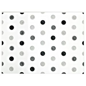 View Spot Black & White Ceramic Wall Tile, (L)330mm (W)250mm details