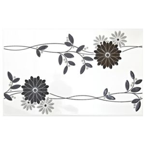 View Jenna Black Ceramic Wall Tile, (L)400mm (W)250mm details