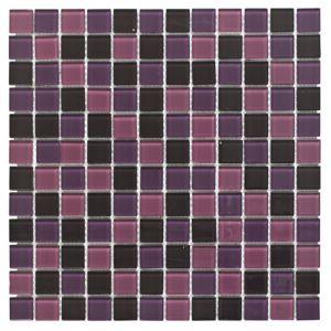 purple glass mosaic tile l 300mm w 300mm departments. Black Bedroom Furniture Sets. Home Design Ideas