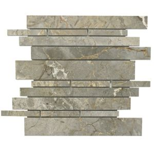 View Grey Marble Mosaic Tile, (L)305mm (W)305mm details