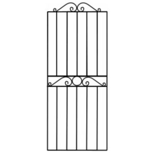 View Blooma Steel Swirl Top Wide Gate (H)1.8m (W)810mm details