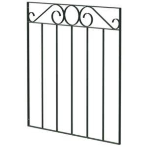 View Blooma Steel Swirl Top Narrow Gate (H)850mm (W)770mm details