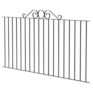 View Blooma Steel Swirl Top Fence (L)89mm (W)1810mm details