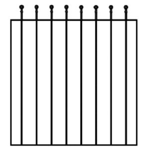 View Blooma Steel Metal Gate (H)900mm (W)810mm details