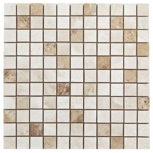 Image of Illusion Natural Stone effect Ceramic Mosaic tile (L)300mm (W)300mm