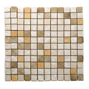 View Natural Travertine Mosaic Tile, (L)300mm (W)300mm details