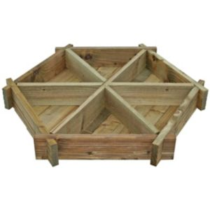 View Blooma Timber Herb Wheel Planter (H)140mm (W)1.07m details