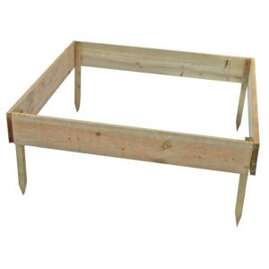 View Blooma Rustic Timber Raised Bed (H)150mm (W)3.25m details