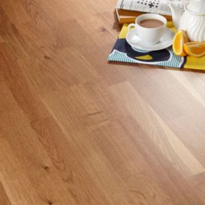 View Colours Libretto Smoked Oak 3 Strip Real Wood Top Layer Flooring 1.58 m² Pack details
