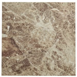 View Illusion Emperador Marble Effect Stone Ceramic Floor Tile, Pack of 5, (L)430mm (W)430mm details