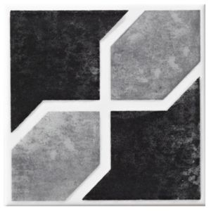 View Byzante Black Ceramic Wall Tile, (L)100mm (W)100mm details