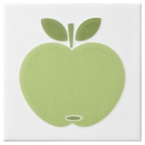 View Apple Lime Ceramic Wall Tile, (L)100mm (W)100mm details