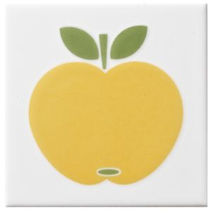 View Apple Yellow Ceramic Wall Tile, (L)100mm (W)100mm details