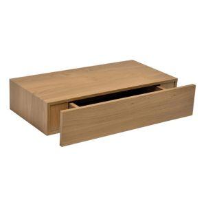 form oak effect floating drawer shelf l 480mm d 250mm. Black Bedroom Furniture Sets. Home Design Ideas